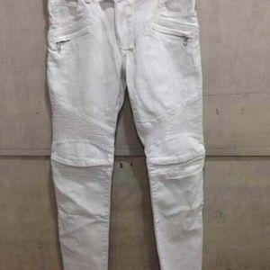 Men's Balmain Biker jeans WHITE
